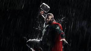 The God of thunder says it's gonna rain for a long time